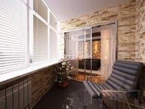 ремонт, отделка балкона в Уфе
